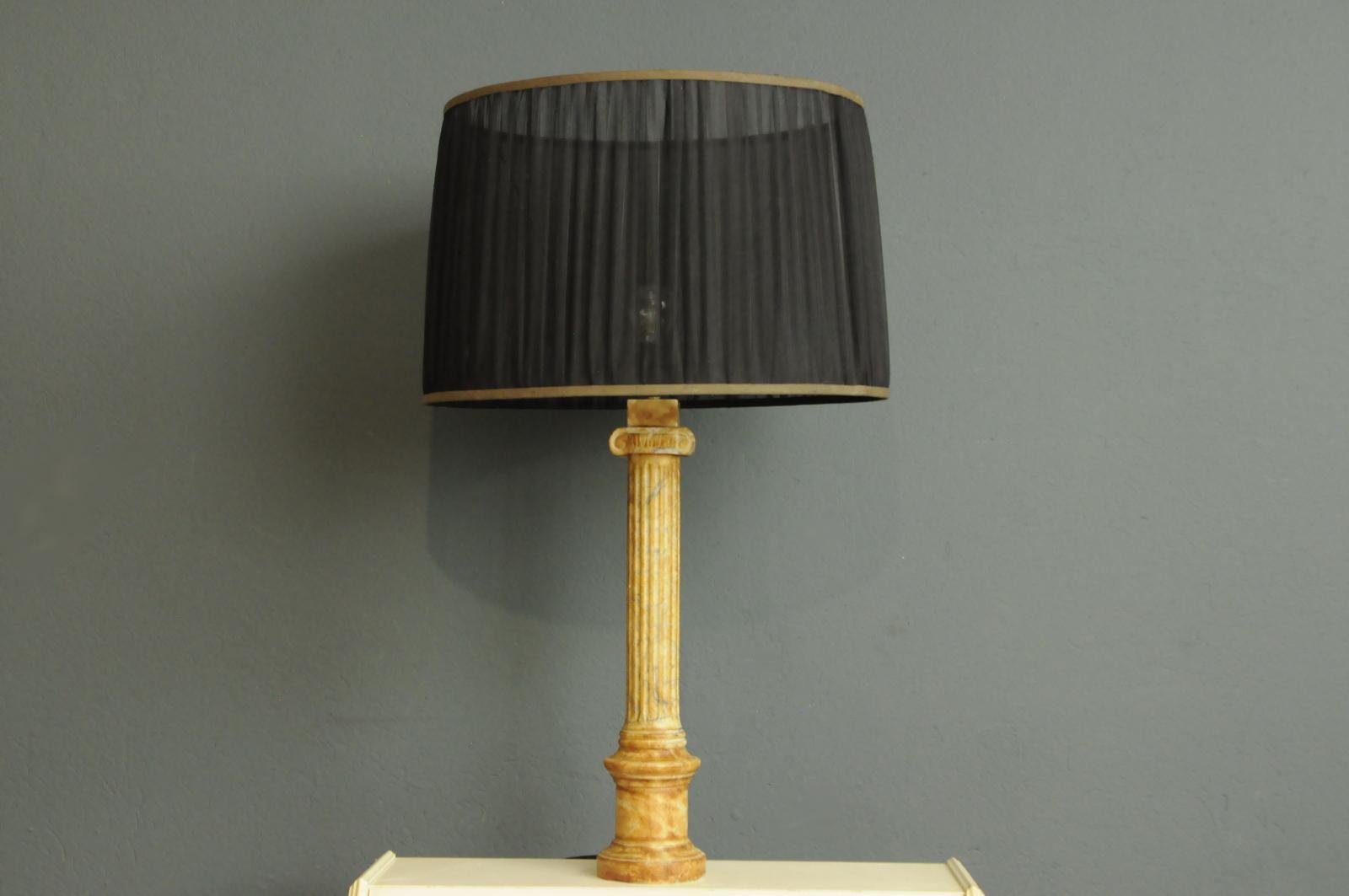 Nietypowy Okaz Marmurowa , Wielka Lampa Art Deco- Dania DJ21