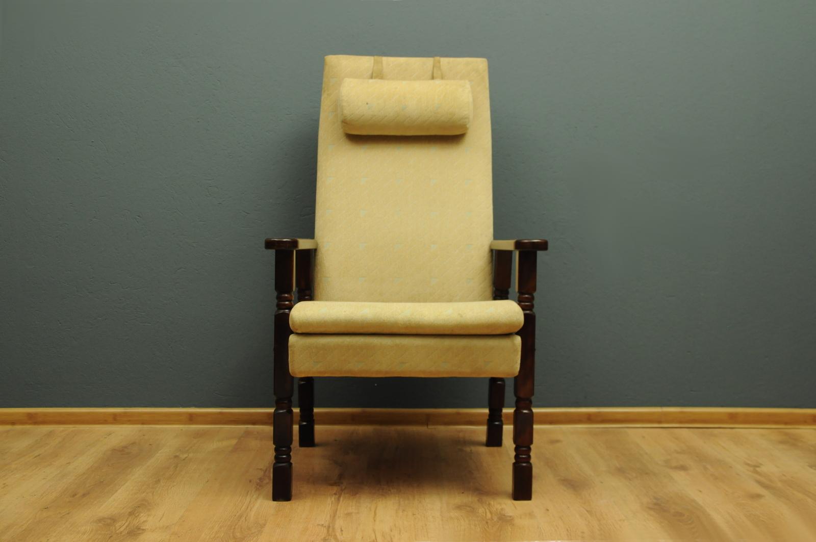 Skandynawski Fotel Z Lat 70 Tych